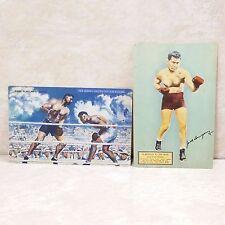 Jack Dempsey Boxer Postcard Lot Of 2 Vintage Restaurant Advertising Cards Unused