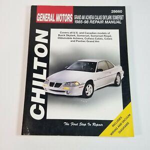 Chilton GM General Motors Repair Manual 28660 '85-'98 Buick Oldsmobile Pontiac