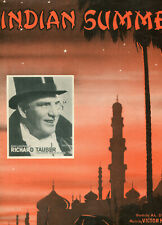 C1939 Illustrated Sheet Music: Indian Summer as recorded by Richard Tauber
