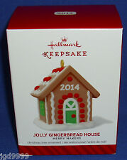 Hallmark Ornament Merry Makers Jolly Gingerbread House 2014 NIB Free Shipping
