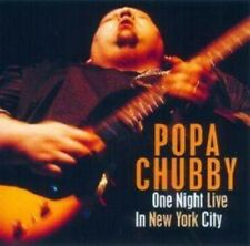 POPA CHUBBY - ONE NIGHT LIVE IN NEW YORK CITY  CD NEW!