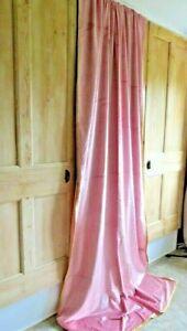 New Anthropologie Petra Velvet Single Curtain 127 x 274cm, Pink