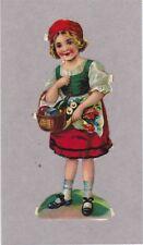 Vintage Die Cut Scrap Little Girl - 12cm - Tabs