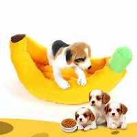 Pet Dog Cat Bed Banana Shape Cushion Puppy Soft Warm Nesting Bed Kennel with Mat