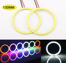 2 Pcs White 130MM Angel Eyes LED COB Chip SMD Car Headlight Halo Ring Light