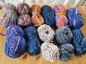 Chunky knitting wool job lot 820g