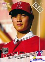 2017 Topps Now #0S-80 Shohei Ohtani FIRST EVER PRINTED TOPPS ROOKIE MINT Angels!