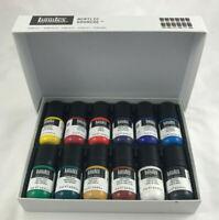 Liquitex Acrylic Gouache 12 Color Set Red Yellow Green Blue Art Paint 22 ml