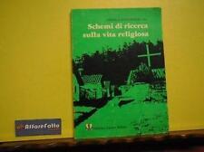 ART 6.710 LIBRO SCHEMI DI RICERCA SULLA VITA RELIGIOSA DI CARMELO CONTI GUGLIA 1