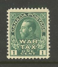 Canada #MR1, 1915 1c King George V - War Tax Issue, Unused NH