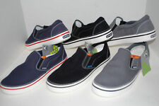 NWT CROCS HOVER SLIP-ON canvas shoe 4 5 6 7 9 10 BLACK NAVY CHARCOAL GREY BLUE