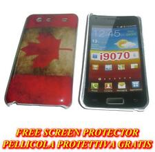 Pellicola+custodia BACK COVER rigida CANADA per Samsung I9070 Galaxy s Advance
