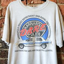 DARE Vintage T Shirt 90s Kannapolis Police Small Distressed Signed Grunge Drug