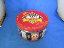 Vintage 1983 Pure Quaker Oats Limited Edition Advertising Cookie Tin With Recipe