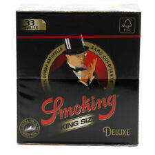 Smoking DELUXE Slim King Size Papers 50 Booklets x 33 Leaflets De Luxe
