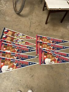 1998 (10) Mark Mcgwire St.Louis Cardinals Pennants 62 & 70 Home Run chase Nice!