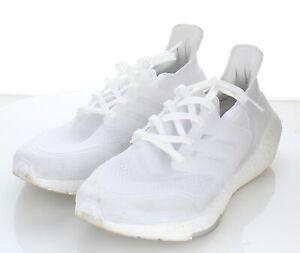 20-45 $180 Women's Sz 8.5 M Adidas Ultraboost 21 Textile Running Sneaker In Whit