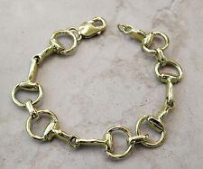 Solid 14K Gold Medium Equestrian Horse Snaffle Bit Bracelet 31.8 Grams