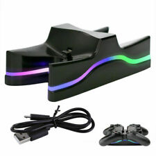 Ps4 Charger Dual Controller Station Dock Charging Stand Usb Playstation Led Fast