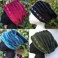 FAIR TRADE Bohemian Folk Hippy Mori Strega Ethnic  Embroidered Velvet Winter Hat