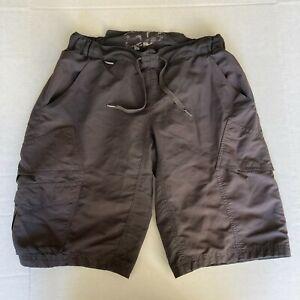 "FOX Mountain Bikin Cycling Shorts Padded Drawstring Charcoal Grey Mens Size 32"""
