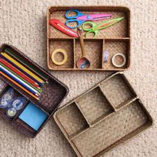 Woven Handmade Seagrass Storage Basket Box Kitchen Groceries Organizer Container