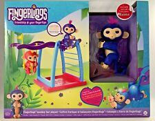WowWee Fingerlings Naima Glitter Monkey and Bar Playset RARE Exclusive NEW