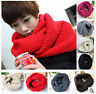 Women Winter Warm Infinity 2Circle Cable Knit Cowl Neck Long Scarf Shawl WJ3