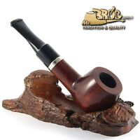 HAND MADE SMOOTH CLASSIC WOODEN SMOKING PIPE BB - GLASGOW - Nr.024 + FILTER !