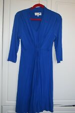 Women Completely Me By Liz Lang Knot Front V Neck Blue Dress Size XS