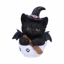 KIT-TEA 11.5cm cat feline witch familiar Figurine Statue Nemesis Now - FREE P+P