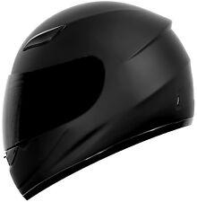 New DOT Motorcycle Helmet Matte / Gloss Black Duke DK-110 -- S/M/L/XL/XXL