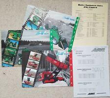 Avant Bundle of 3 Leaflet Brochure, Pricelists and attachment details 1997