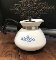 Vintage Perfect Corning Ware Blue Cornflower 6 CUP Tea COFFEE Pot P104 CORELLE