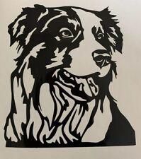 1x Border Collie Dog Vinyl Sticker Decal Graphic Car Van Window Black