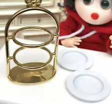 Doll House Accessories 1:12th Miniature - Cake Rack with Plates