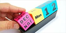 MoMA Cubes Perpetual Calendar CMYK Modern Office Desk Accessory Unique Cool Gift