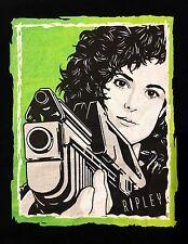 ELLEN RIPLEY ALIEN ALIENS SIGOURNEY WEAVER ORIG.ART T SHIRT NEW S M LG XL & 2XL