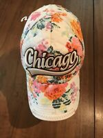 Robin Ruth Floral Snapback Floral Ballcap Hat Chicago Quilted Womens