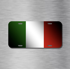 Italy Italian Flag Vehicle License Plate Front Auto Tag Plate Rome Milan New!