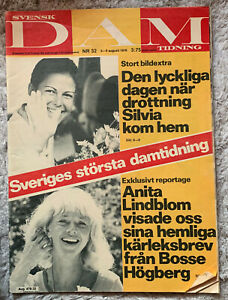 Svensk DAM tidning-Nr.32/1976 - Königin Silvia von Schweden; Königshaus