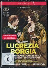 DVD DONIZETTI LUCREZIA BORGIA Joan Sutherland Alfredo Kraus Richard Bonynge 1980