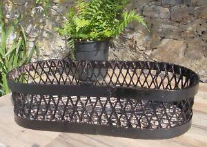 vintage iron plant holder, basket, French, garden display ,very heavy, planter