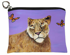 Lioness Change Purse,  Coin Wallet - From my Original Oil Painting, Curiosity