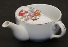ANTIQUE Vintage MEDICAL INVALID FEEDER Porcelain PAP BOAT Hospital Sick Cup