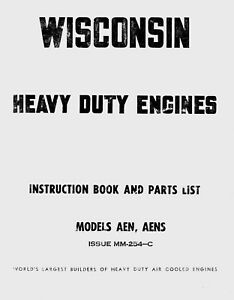Wisconsin Models AEN, AENS Instruction Book and Parts List