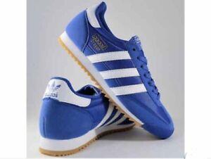 ADIDAS DRAGON OG blu sneakers ORIGINALI VERA PELLE Unico Difetto è suola sporca