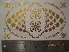 temporary body gold - flush tattoos - one sheet - cool/bohochic- 3.5X6