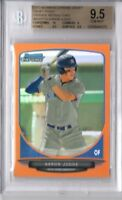 BGS 9.5 AARON JUDGE 2013 Bowman Chrome ORANGE REFRACTOR Rookie RC #/25 GEM MINT