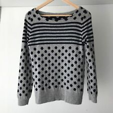 J Crew Womens Warmspun Intarsia Polka Dot Wool Blend Sweater, AU Size 8